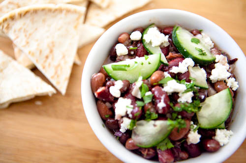 Bean and Cheese Salad with Cucumber