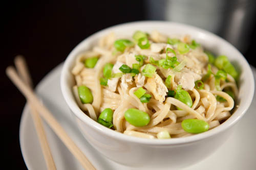 Cold Asian Soba Noodles with Chicken
