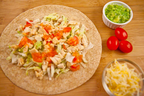 Chicken Soft Taco on Whole Wheat Tortilla