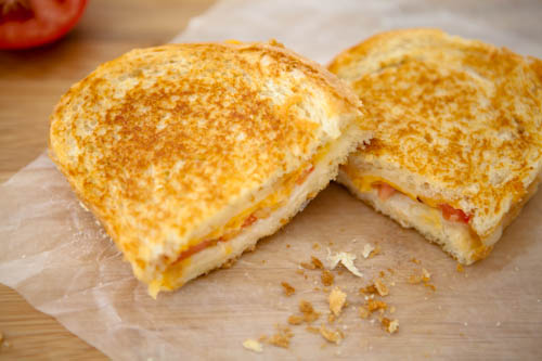 Grilled Tomato and Three Cheese Sandwich