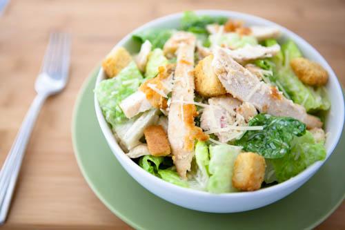 Light Chicken Caesar Salad