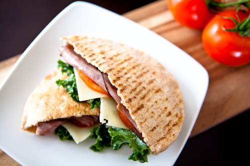 Smoked Ham and Cheese Pita Pockets