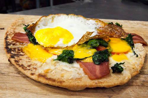 Breakfast Flat Bread Pizza