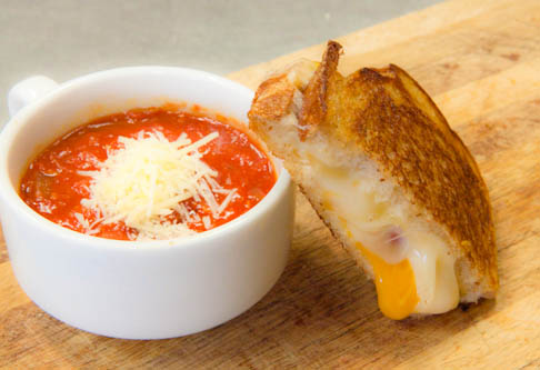 Half Tomato Soup Half Grilled Cheese