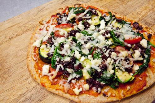 Mediterranean Flat Bread Pizza